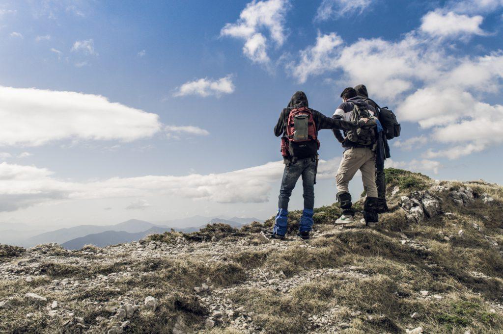 Bergsteiger am Gimpfel